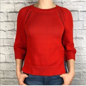 🍃 Lucky Brand Knit Red/Orange Sweater